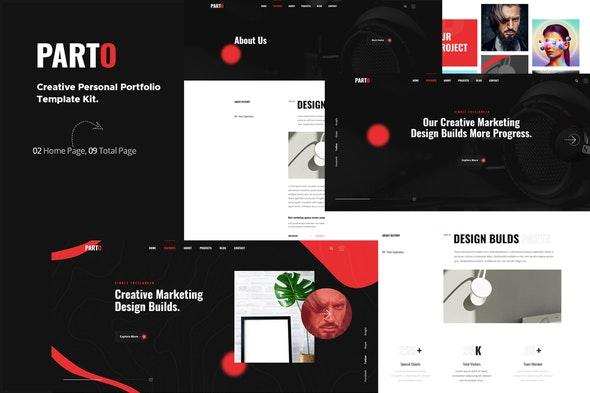 Parto – Creative Personal Portfolio Elementor Template Kit - Creative & Design Elementor