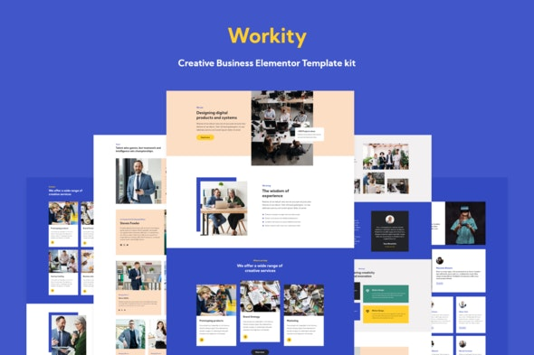 Workity- Creative Business Elementor Template kit - Business & Services Elementor
