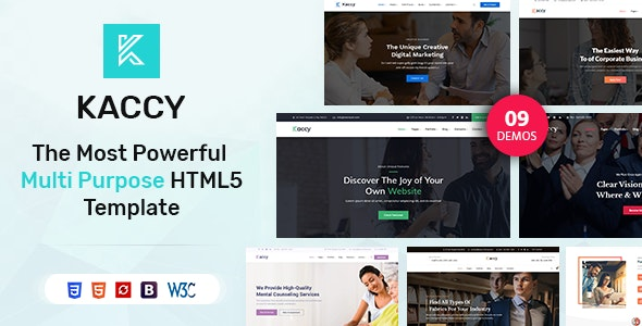 Kaccy - Services Multi-Purpose HTML Template - Business Corporate