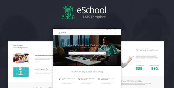 eSchool - Education & Joomla LMS Template