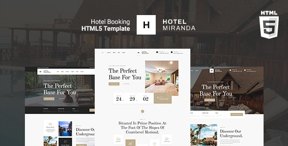 Miranda - Hotel booking HTML Template - Travel Retail