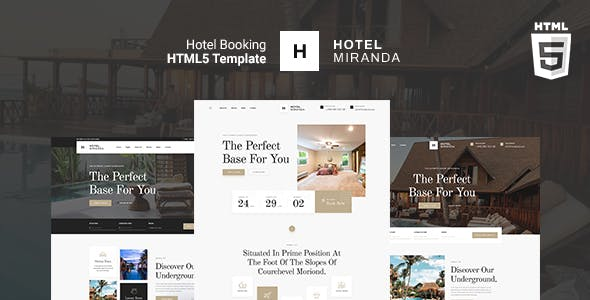 Miranda - Hotel booking HTML Template