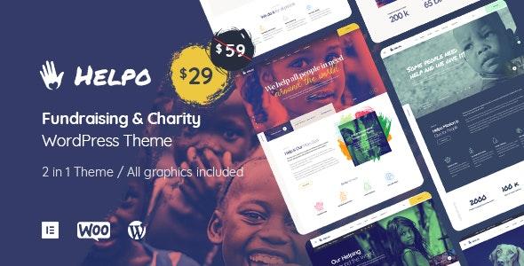 Helpo   Fundraising & Charity WordPress Theme - Charity Nonprofit