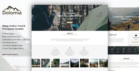 Dolomia - Hiking, Outdoor, Mountain Guide WordPress Theme