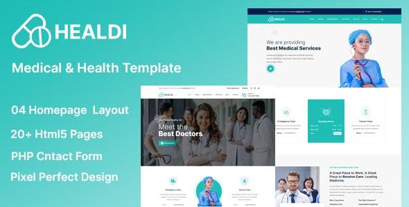 Healdi - Medical & Health Template - Health & Beauty Retail
