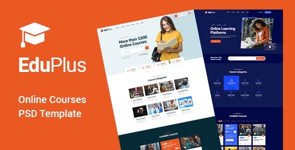 EduPlus - Online Courses PSD Template