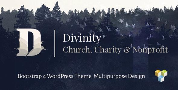 Divinity - Church, Nonprofit, Charity Events & Donations Bootstrap 4 WordPress Theme - Nonprofit WordPress