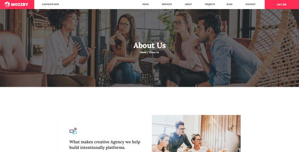 Mozzby - Multipurpose Agency PSD Template