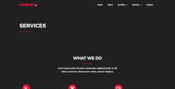 Mobdev - Creative Portfolio & Resume Elementor Template Kit