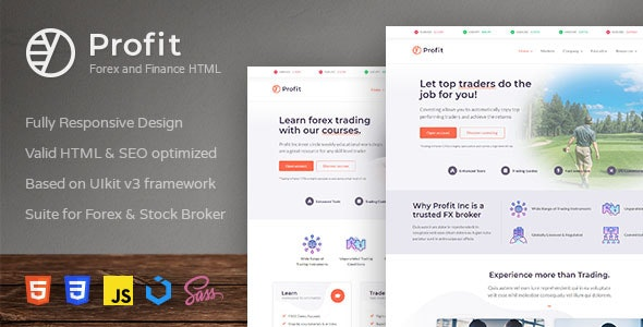 Profit - Forex and Finance HTML Template - Business Corporate