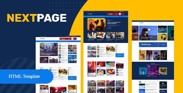 Nextpage - Magazine & Newspaper HTML Template - Entertainment Site Templates
