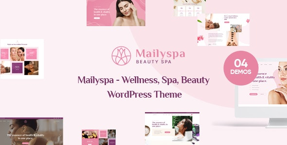 Mailyspa - Beauty & Wellness WordPress Theme - Health & Beauty Retail