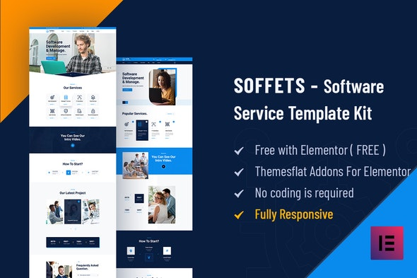 Soffets - Software & IT Service Elementor Template Kit - Business & Services Elementor