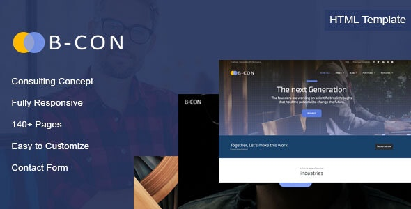 B-Con - Consulting HTML Template - Site Templates