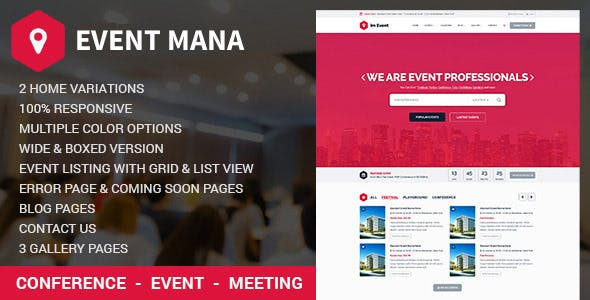 Event Management Website Templates From Themeforest
