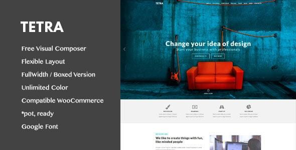 Tetra - Digital Marketing Landing Pages WordPress Theme - Marketing Corporate