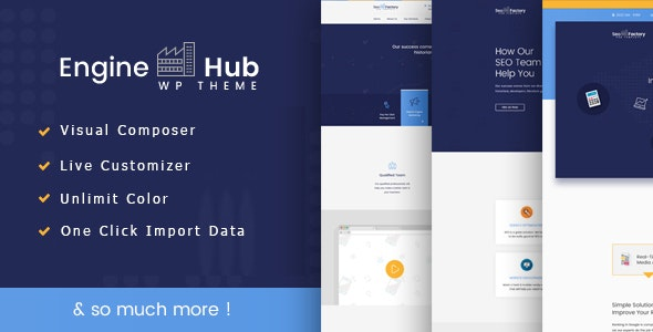 Engine Hub Marketing WordPress Theme - Marketing Corporate