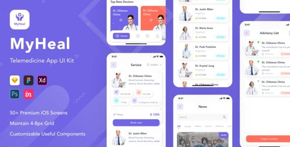 MyHeal - Telemedicine App UI Kit - UI Templates