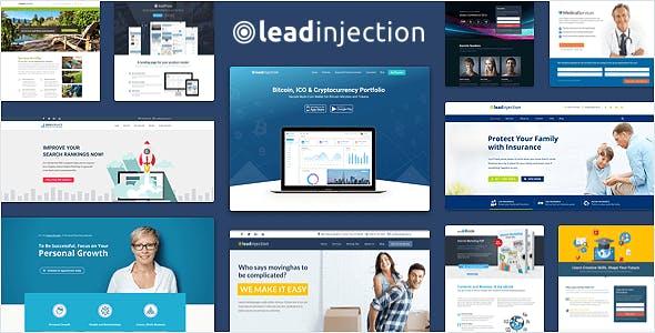 Leadinjection - Thème de la page de destination