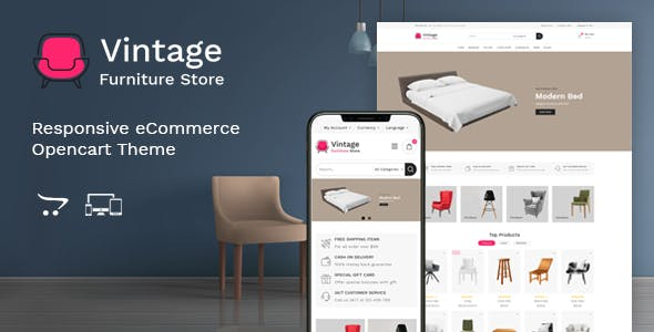 Vintage - Furniture Responsive OpenCart Theme