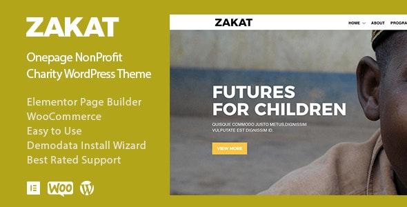 Zakat - Charity Donation Nonprofit WordPress Theme - Charity Nonprofit