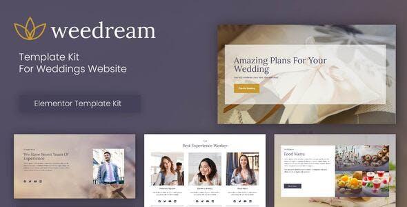 Weedream - Wedding Elementor Template Kit