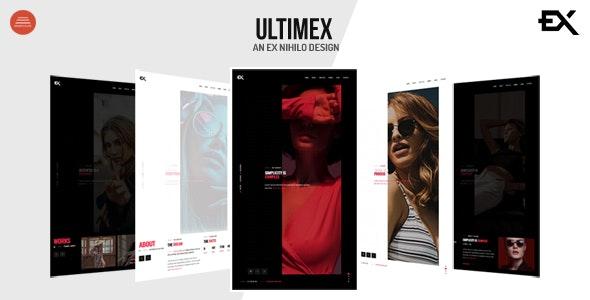 Ultimex - One Page Portfolio Template - Portfolio Creative