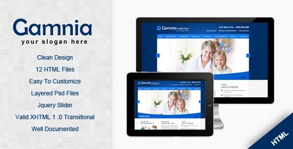 Gamnia Health Care Template - Health & Beauty Retail