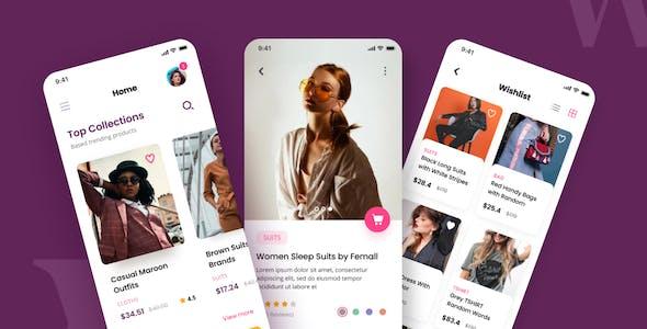 Wedo - Fashion Store iOS App Design UI Template PSD