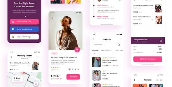 Wedo - Fashion Store iOS App Design UI Template Figma