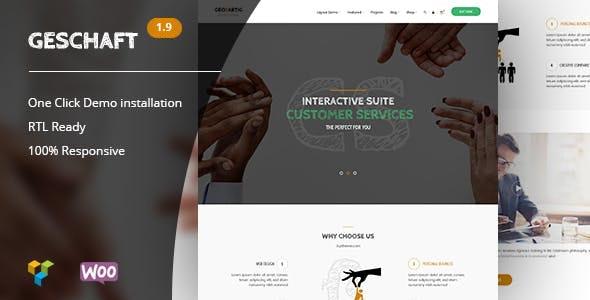 Geschaft - Business WooCommerce WordPress Theme - Corporate WordPress