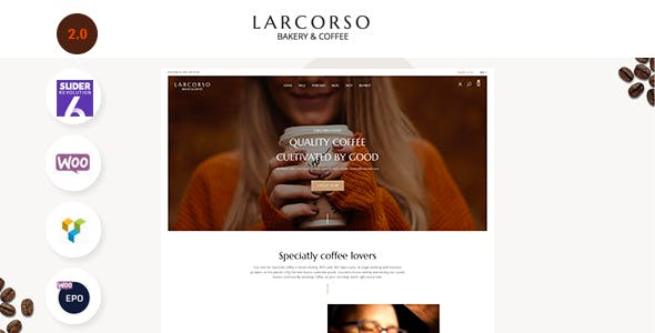 Larcorso - Coffee Shop WooCommerce Theme