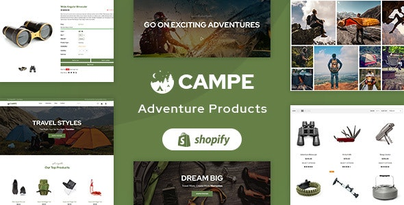 Campe - Camping & Adventure Shopify Theme - Entertainment Shopify