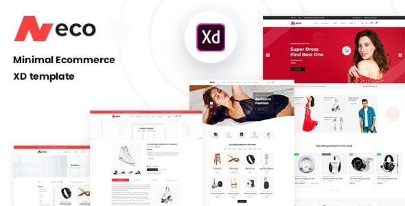Neco - Minimal Ecommerce XD Template - Adobe XD UI Templates