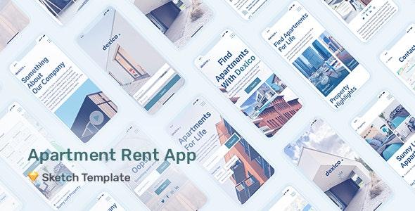 Dexico – Apartment Rent App for Sketch - Corporate Sketch
