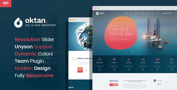 Oktan – Oil & Gas Industry WordPress Theme - Technology WordPress