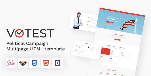 Votest - Political Campaign HTML5 Template - Political Nonprofit