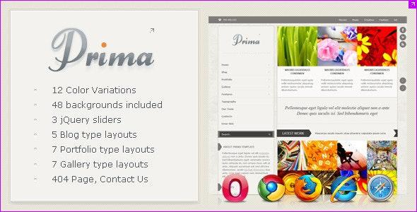 Prima - Creative and Clean Website Template - Portfolio Creative
