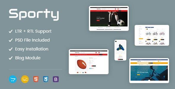 Sporty - Responsive OpenCart Theme