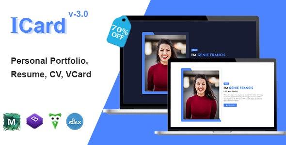 Personal Portfolio - Icard - Virtual Business Card Personal