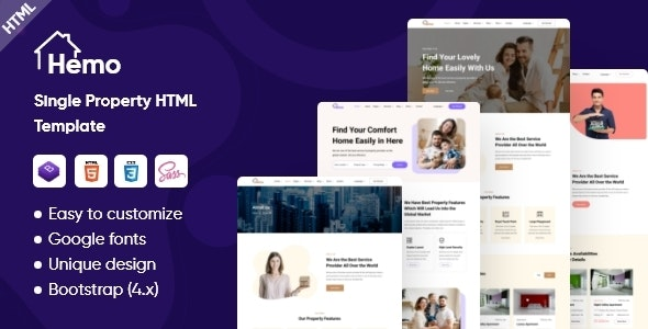 Hemo - Single Property HTML Template - Business Corporate