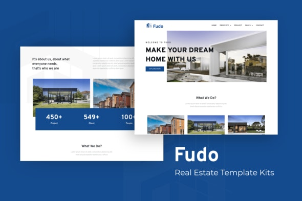 Fudo - Real Estate Elementor Template Kit - Real Estate & Construction Elementor
