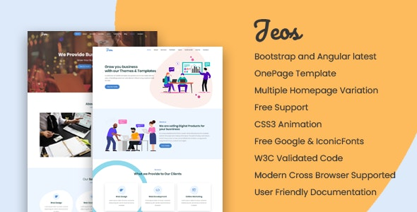 Jeos - Onepage Angular Template - Creative Site Templates