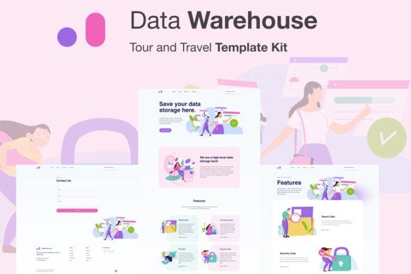 Stroranger - Data Warehouse Elementor Template Kit - Technology & Apps Elementor