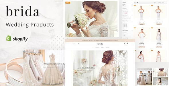 Brida - Wedding Fashion & Bridal Shop Shopify Theme - Shopify eCommerce
