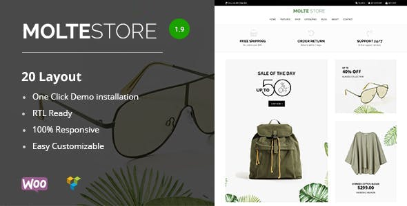 Molte  Fashion and Food WooCommerce Theme