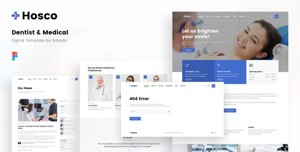 Hosco - Dentist & Medical Figma Template - Health & Beauty Retail