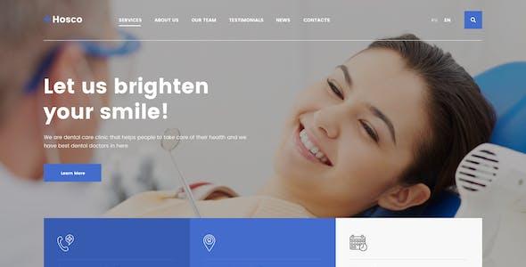 Hosco - Dentist & Medical Figma Template