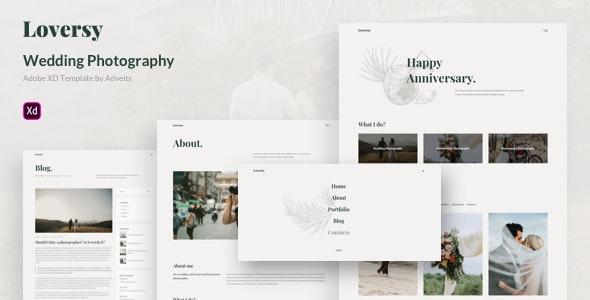 Loversy - Wedding Photography Adobe XD Template - Photography Creative