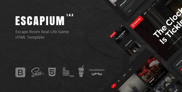 Escapium - Escape Room Game HTML Template - Entertainment Site Templates